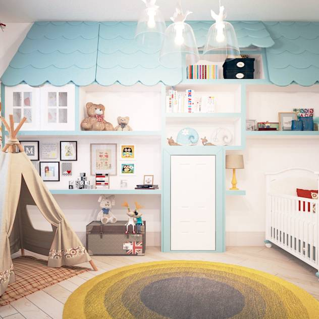 Scandinavian style nursery/kids room by KYD BURO