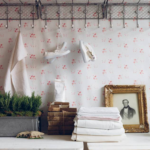 Catherine Rose Pink Wallpaper : by Cabbages & Roses
