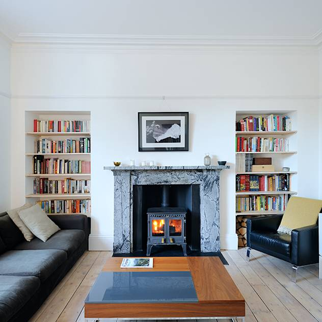 South Crown Street Living Room : Soggiorno moderno di Brown + Brown Architects