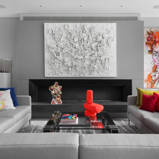 Hamilton Terrace : Eclectic style living room by KSR Architects