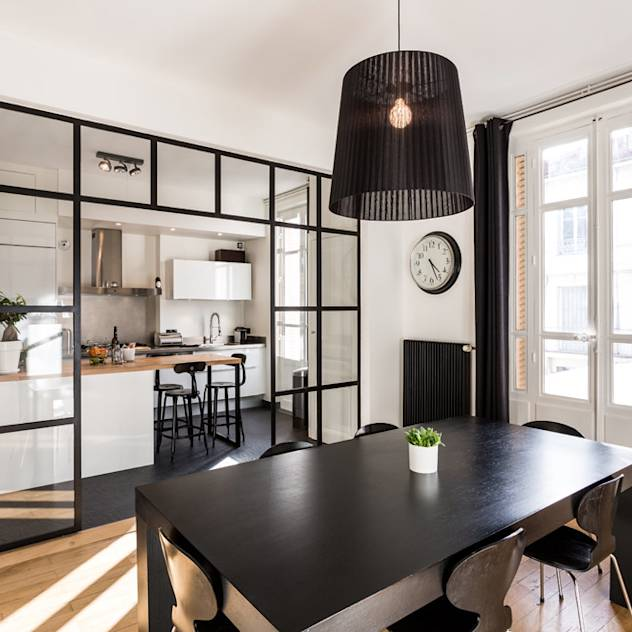 Rénovation d'un appartement à Lyon 6e : Cozinhas modernas por Stellati Rénovation