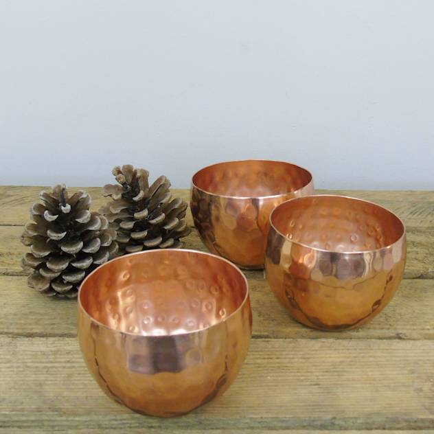 Copper Tea Light Holder : Accessories & decoration by The Den & Now