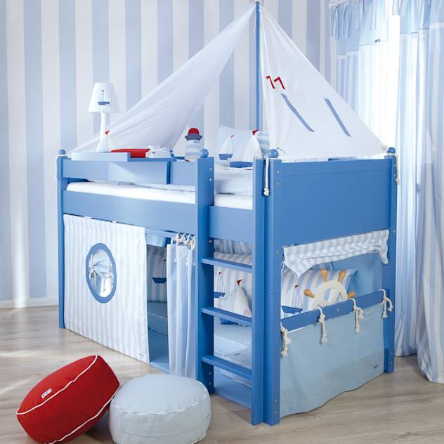 Sail Boat Mid Sleeper Bed : Beds & cribs by The Baby Cot Shop