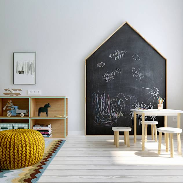 Scandinavian style nursery/kids room by INT2architecture