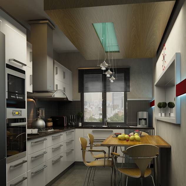 KITCHEN : Modern kitchen by Burcu