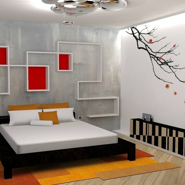 japan house (camera da letto): Camera da letto % in stile % {style} di {professional_name}