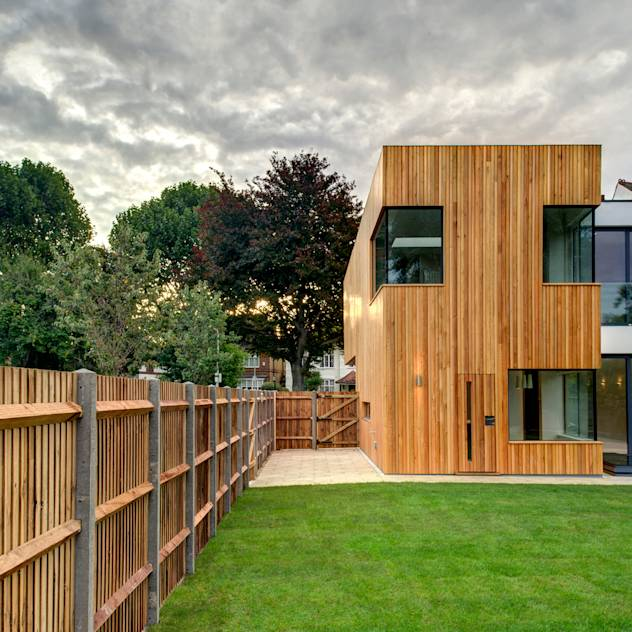 Rear : Casas modernas de MZO TARR Architects