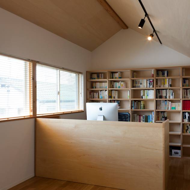 本の部屋 : Modern study/office by FURUKAWA DESIGN OFFICE