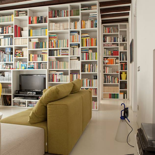 Modern living room by davide petronici | architettura