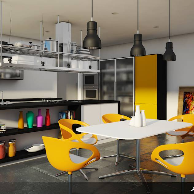 Cuisine moderne par SK Architectural Visualization