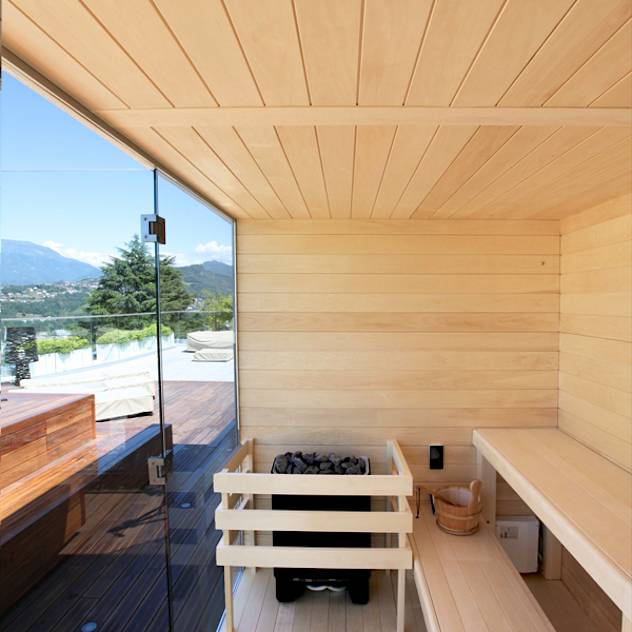 Sauna esterna : Spa moderna di ITALIAN WELLNESS – The Art of Wellness