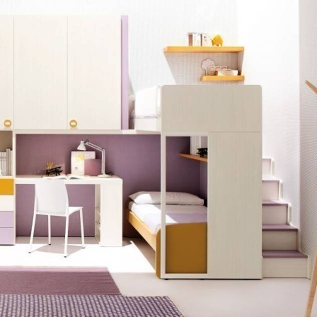 'Pink' Contemporary girls bedroom furniture set by Clever : Beds & cribs by My Italian Living