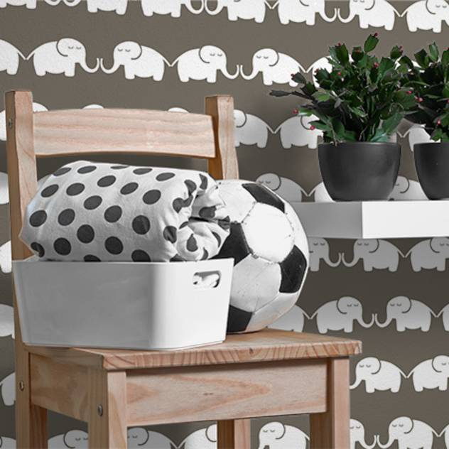 ​Tapete Elephant, for him (graubraun) : Accessoires und Dekoration von Designstudio DecorPlay