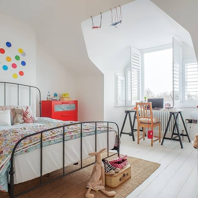 Full House Renovation with Crittall Extension, London : Eclectic style nursery/kids room by Holland and Green