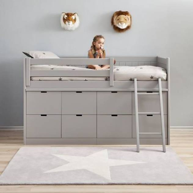 Box Bed with 8 Deep Storage Drawers : Beds & cribs by Nubie Kids