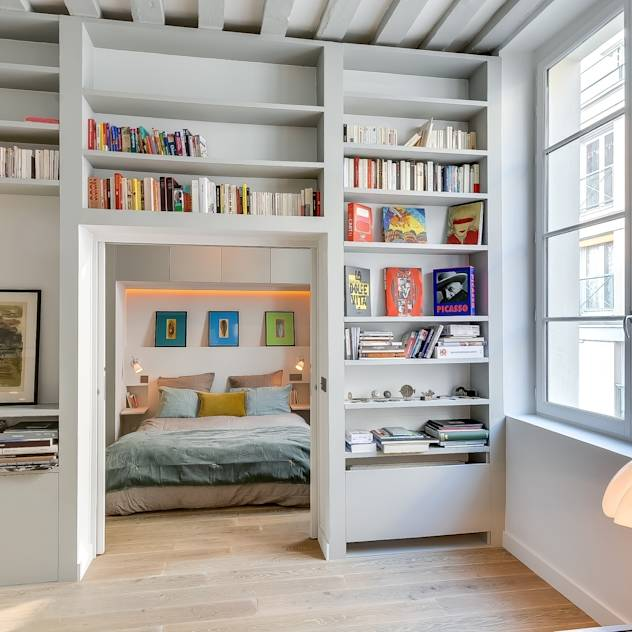 Appartement Paris : Chambre industrielle par Meero