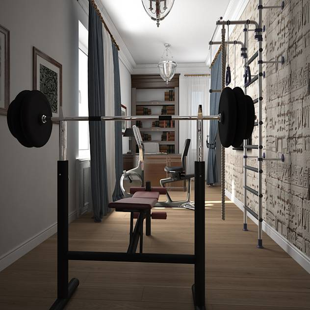 Eclectic style gym by Альбина Романова