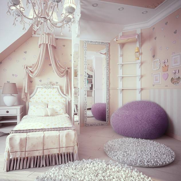 Classic style nursery/kids room by Kiwi_project