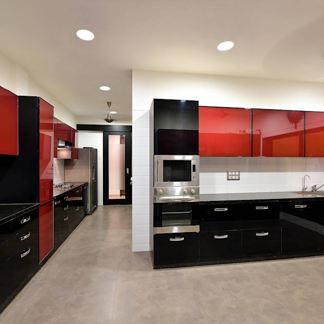 Kitchen : Cucina minimalista di ARK Reza Kabul Architects Pvt. Ltd.