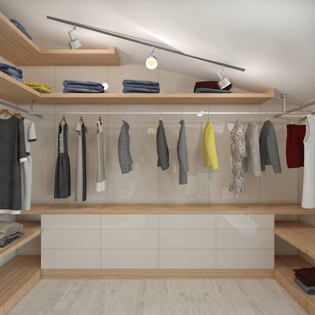 Modern dressing room by BWorks