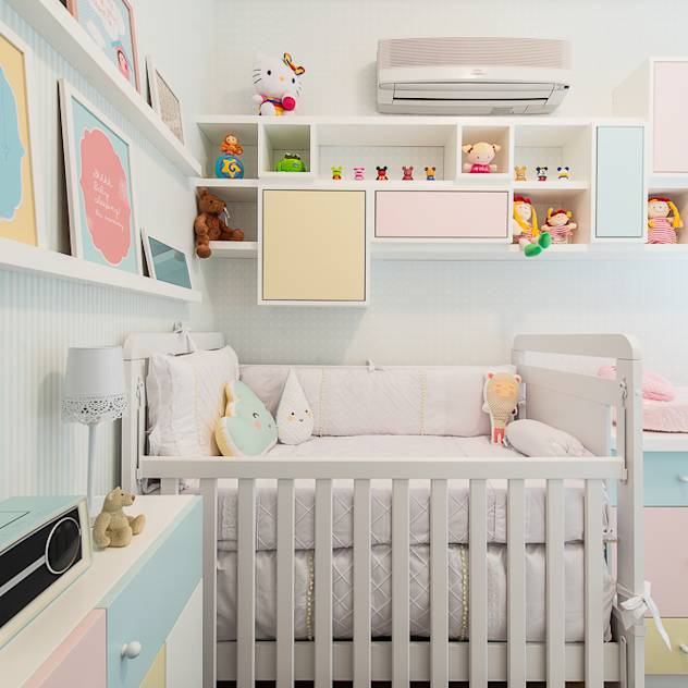 Modern nursery/kids room by Locus Arquitetura