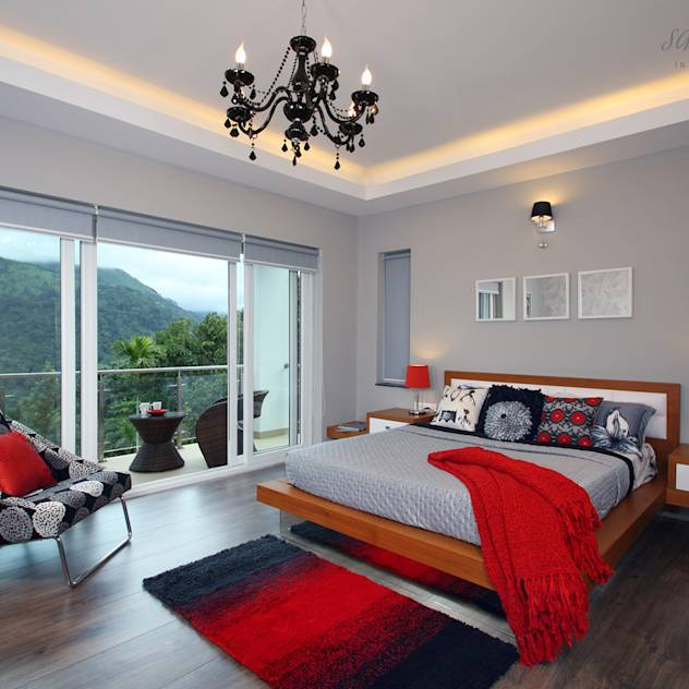 Master Suite : Modern bedroom by Savio and Rupa Interior Concepts