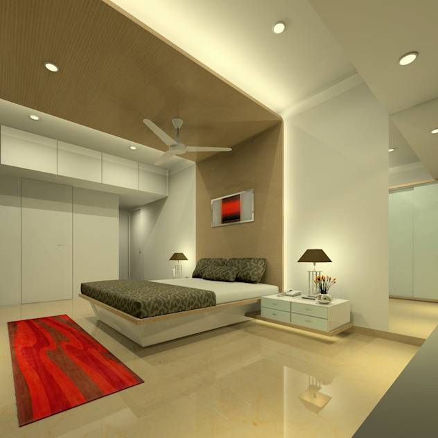 Master bedroom : Modern bedroom by A.S.Designs