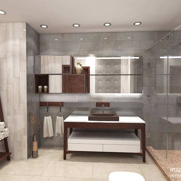 House Renovation, Mexico. Bathroom : Modern bathroom by Inspiria Interiors