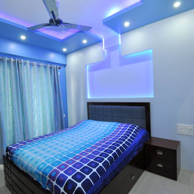 Hennur, Banaglore Project: Modern Bedroom by Kriyartive Interior Design