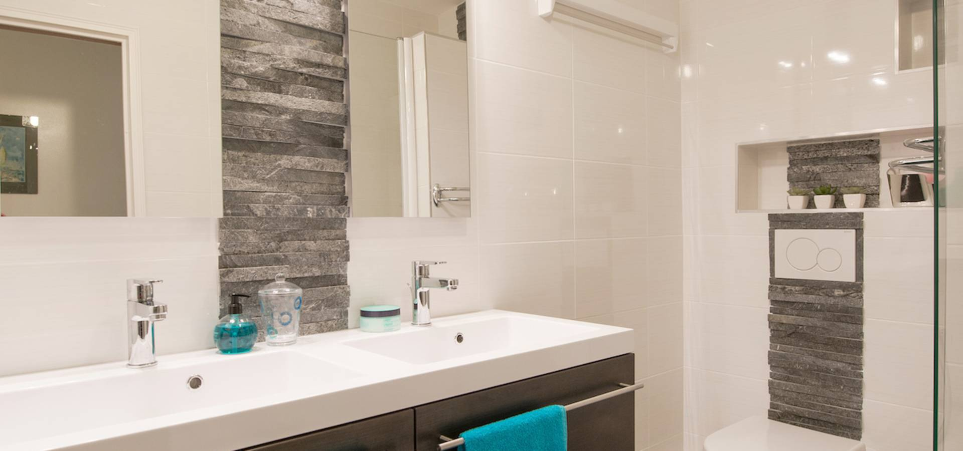 Am by annie mazuy architectes d 39 int rieur lyon sur homify for Salle de bain parement
