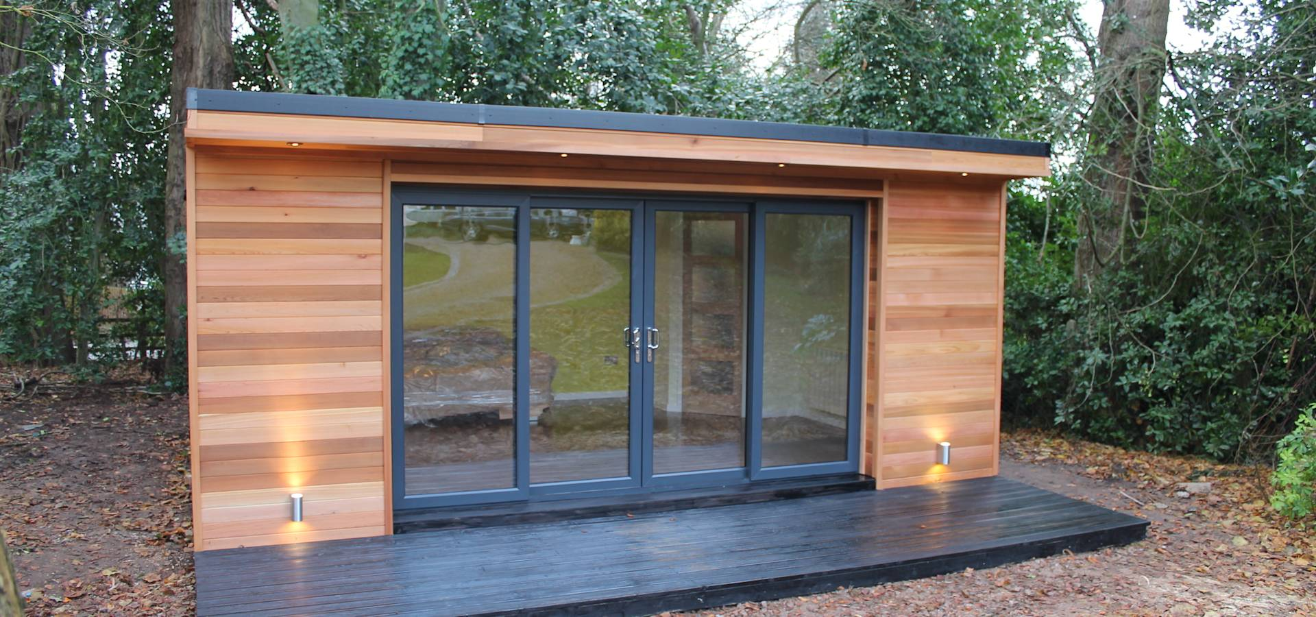 39 the crusoe classic 39 6m x 4m garden room home office for Cedar garden office