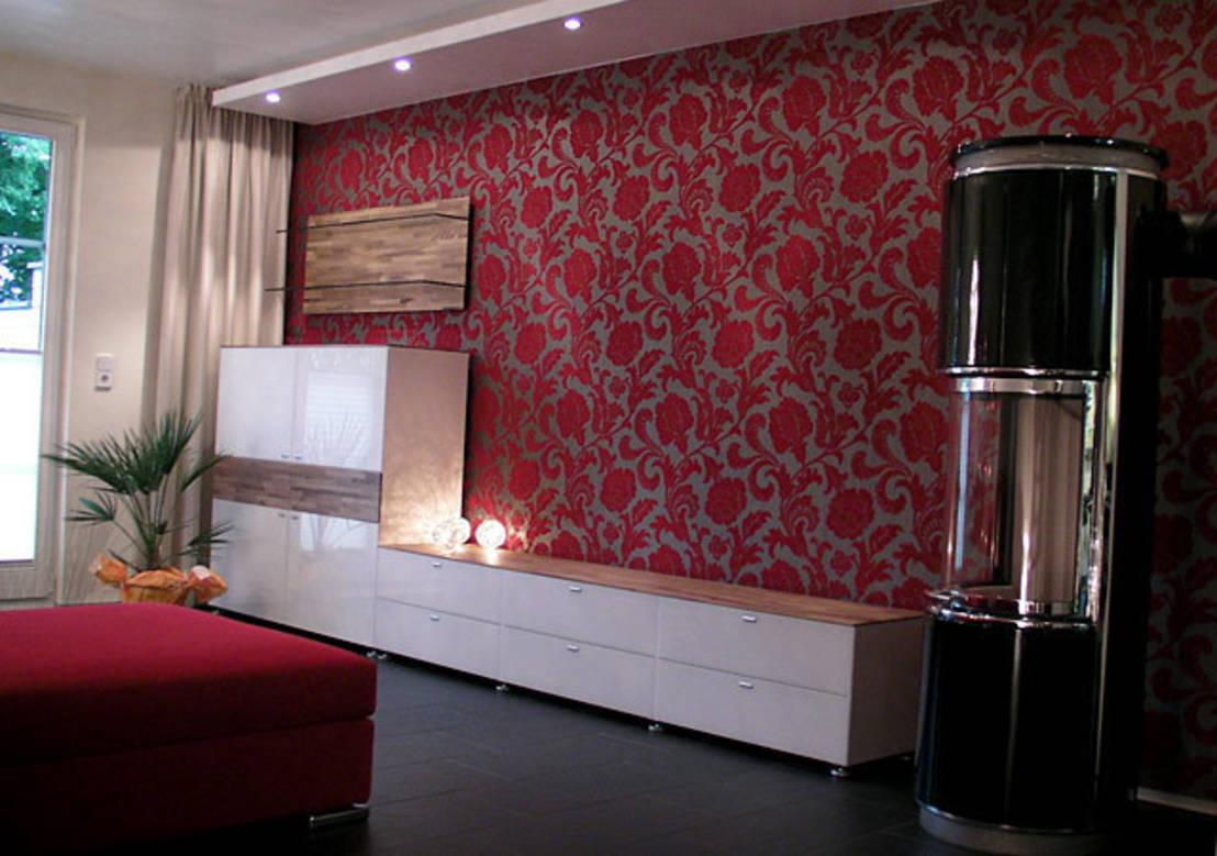 wohnen in rot. Black Bedroom Furniture Sets. Home Design Ideas