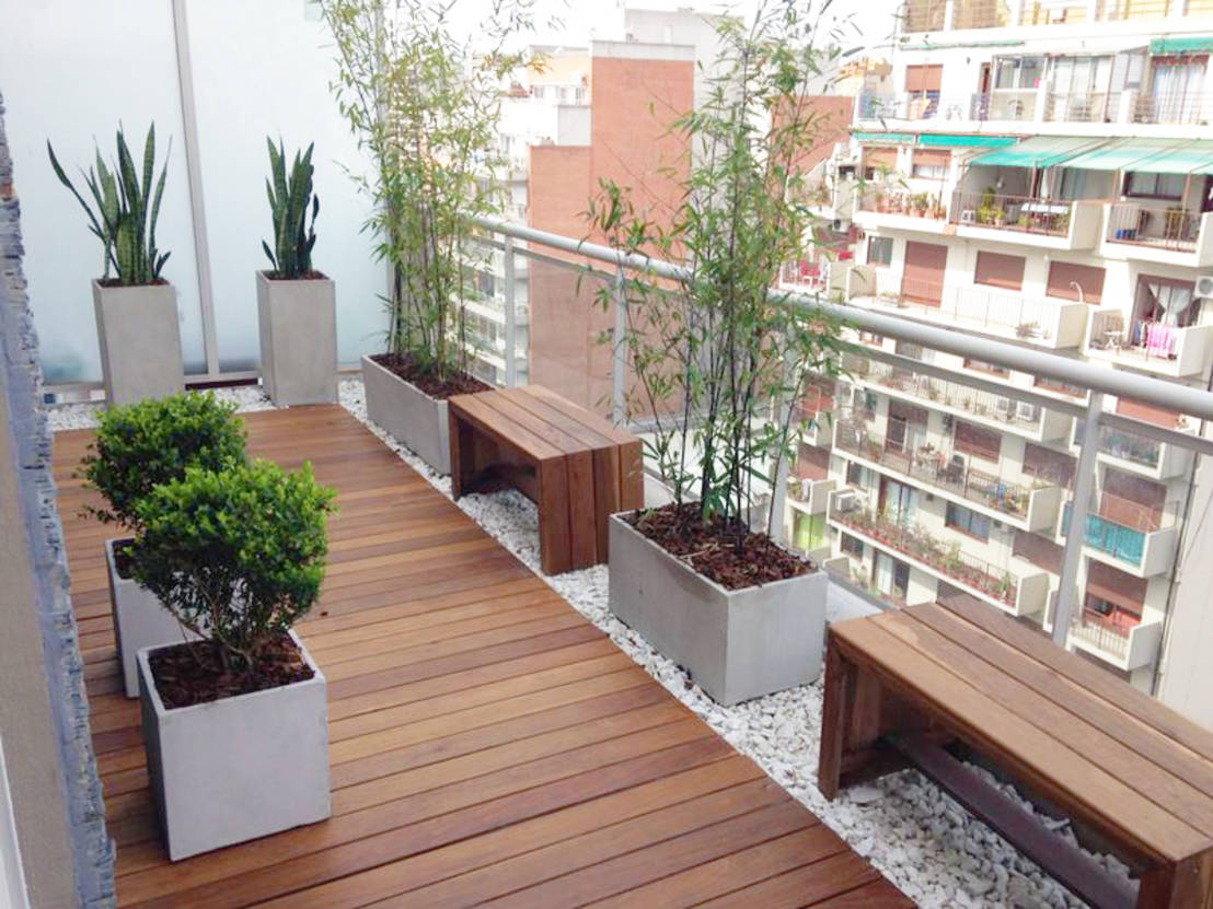 Balcones 10 ideas frescas y modernas for Ideas de pisos para terrazas