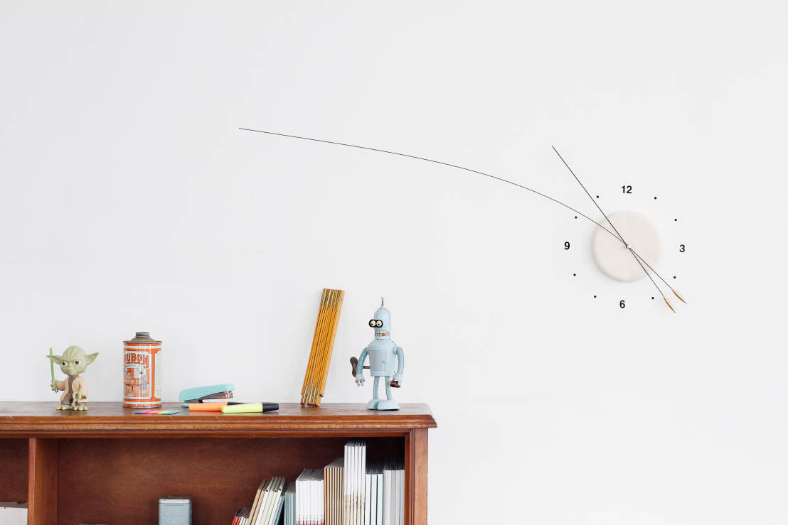 Muster Tapete Hinter Fernseher : Lithe Clock