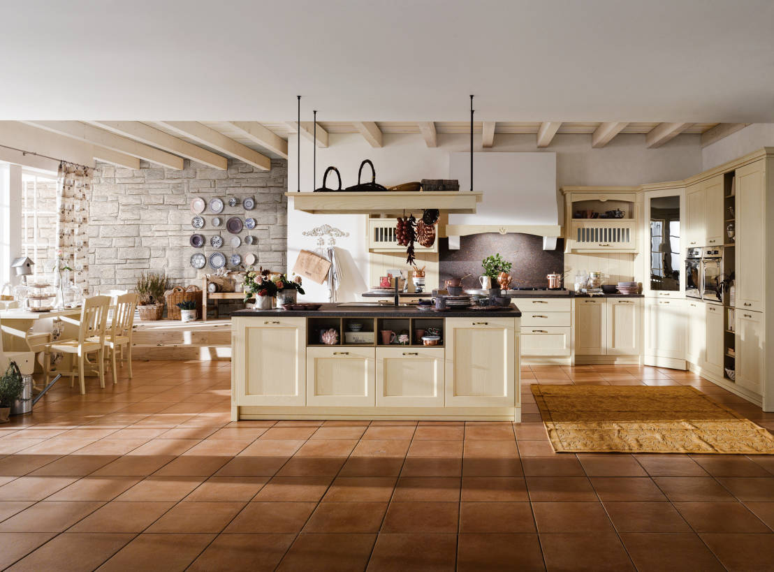 Le cucine country chic e l 39 arredo for Cucine country bianche