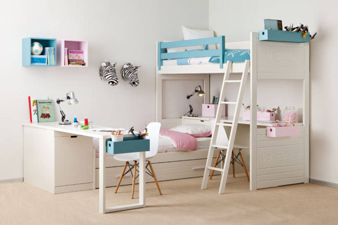 How to decorate a little girl 39 s bedroom - Cama nido con escritorio ...