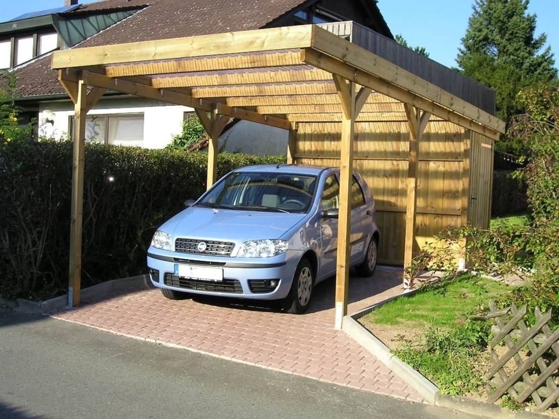 carport g nstige holzcarports als bausatz. Black Bedroom Furniture Sets. Home Design Ideas