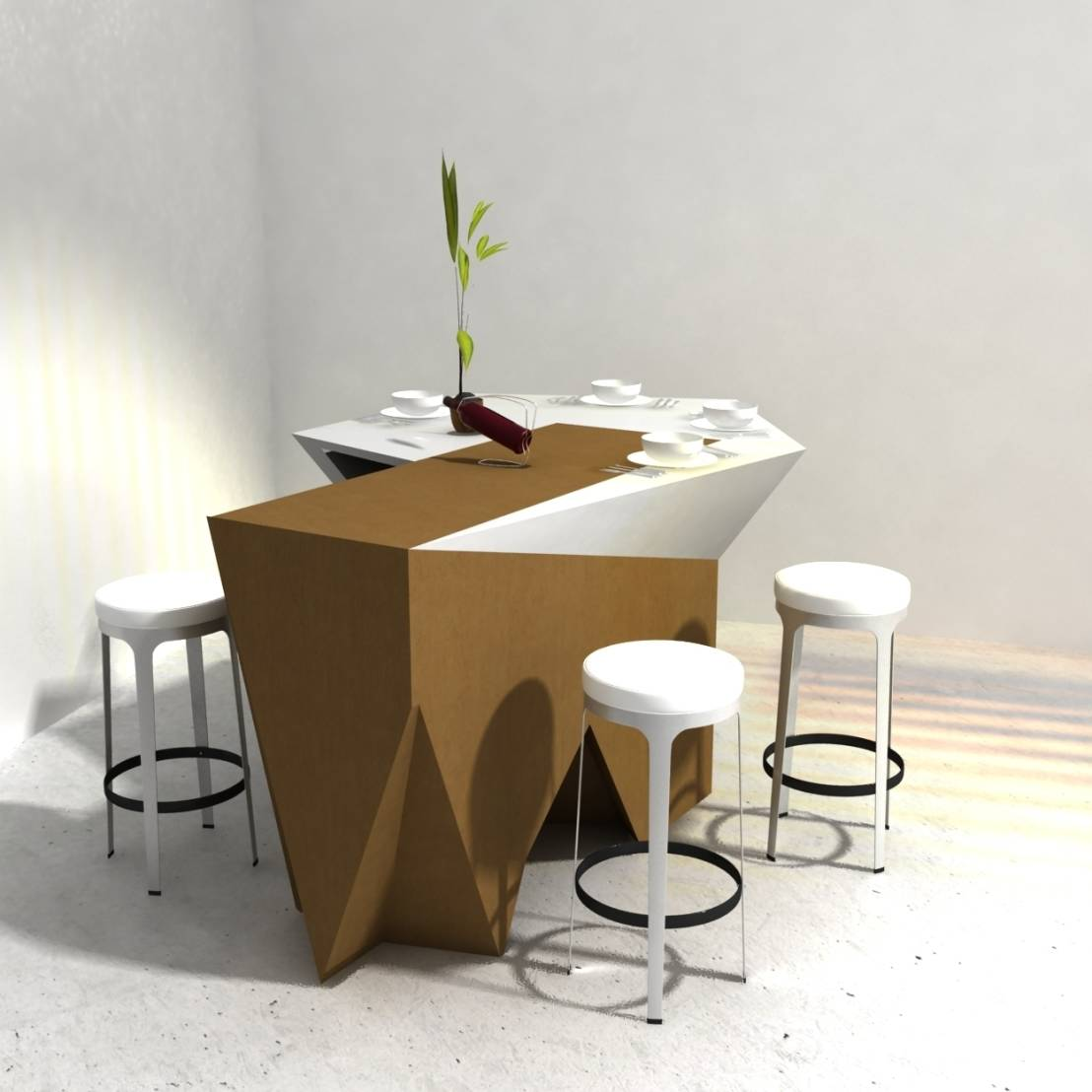 Geometric wooden furniture for Meuble furniture