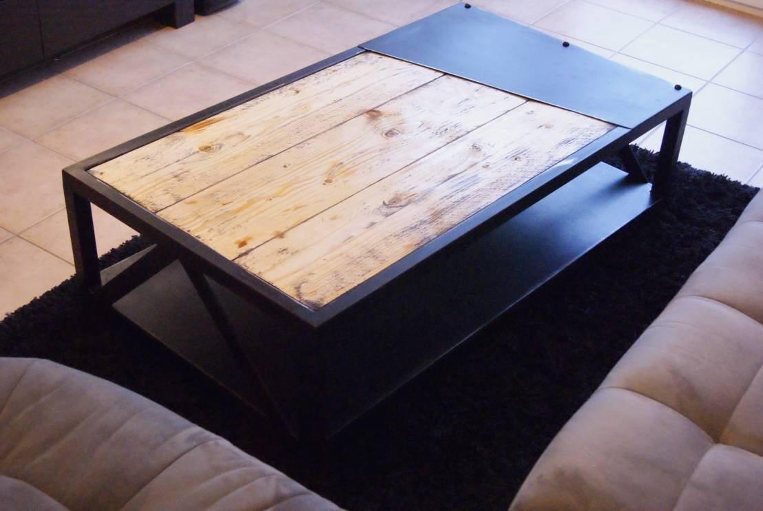 Table basse originale - Table basse originale en verre ...