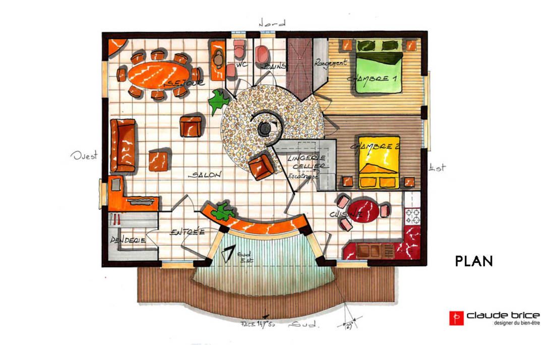 Feng Shui House Plans Bungalow