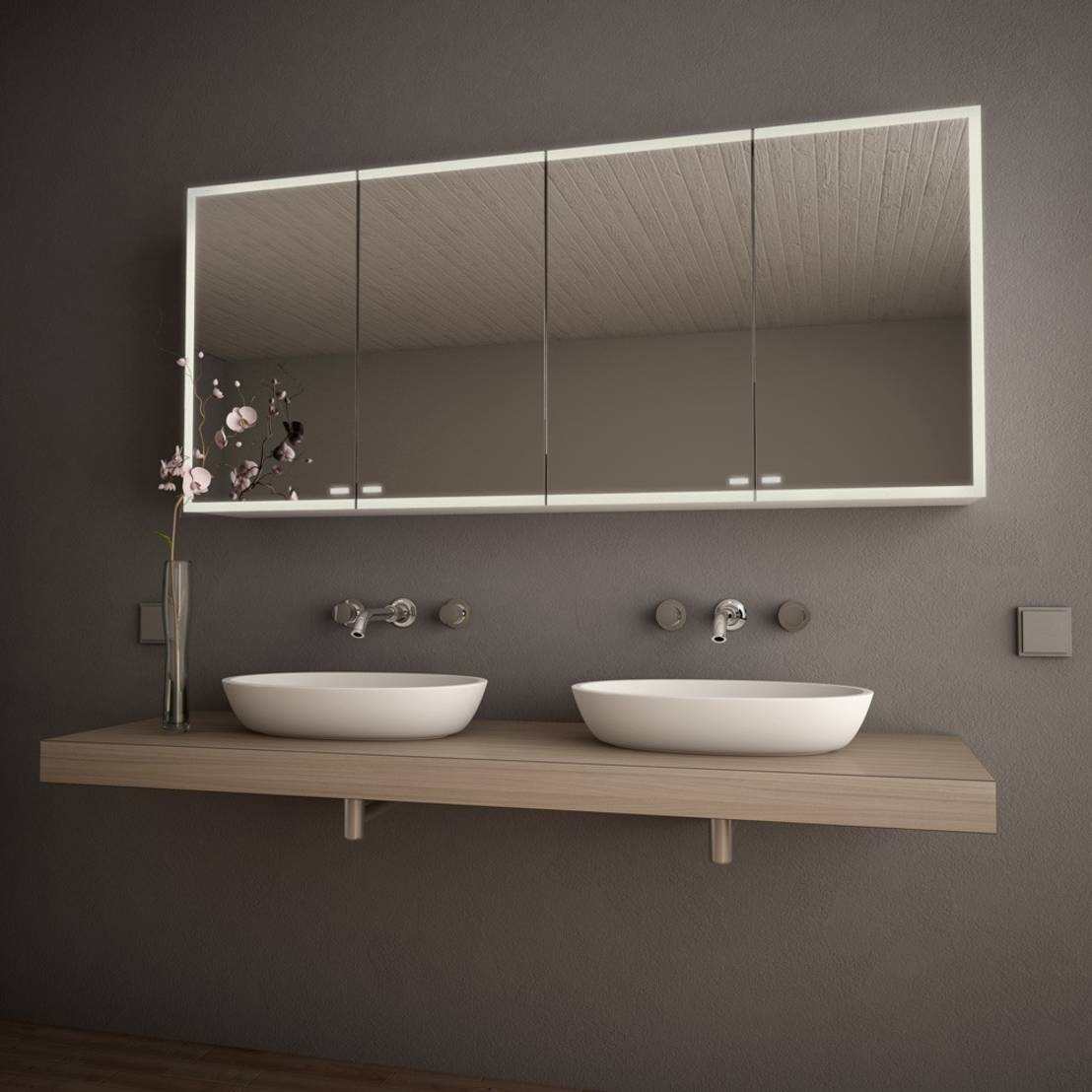 il bagno moderno con lo specchio contenitore. Black Bedroom Furniture Sets. Home Design Ideas