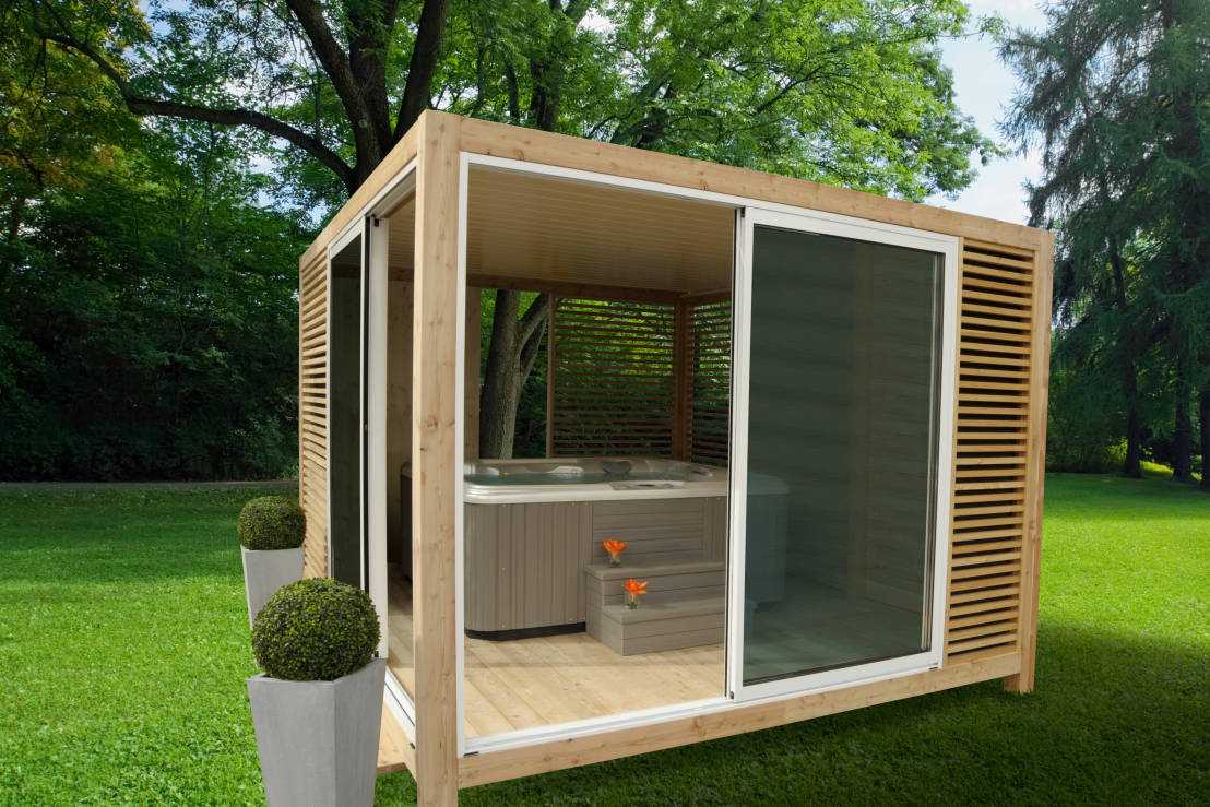 Heavenly hot tub gazebos - Abri de spa gonflable ...