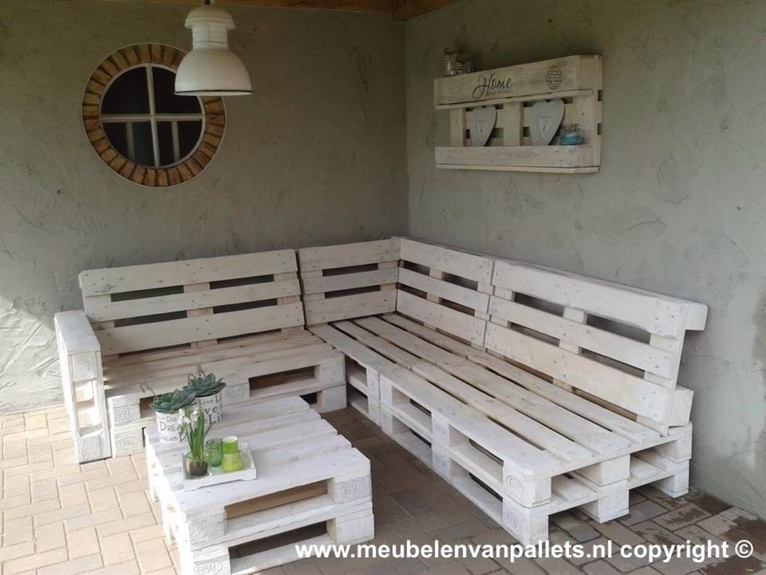 bijzondere tuinmeubels gemaakt van pallets. Black Bedroom Furniture Sets. Home Design Ideas