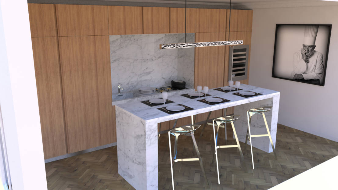 Table haute de bar une tendance qui s 39 impose for Cuisine design appartement haussmannien