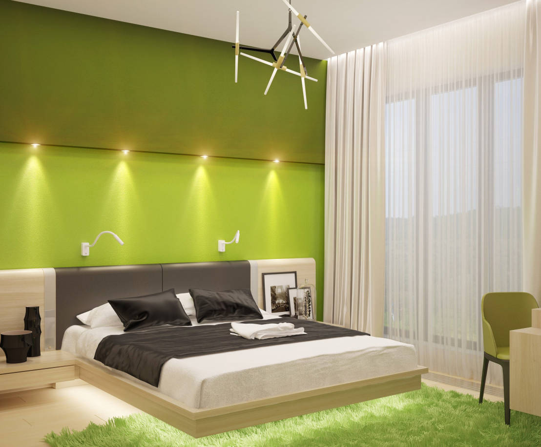 Color verde fabuloso 7 ideas para decorar casas modernas - Colores calidos para dormitorios ...