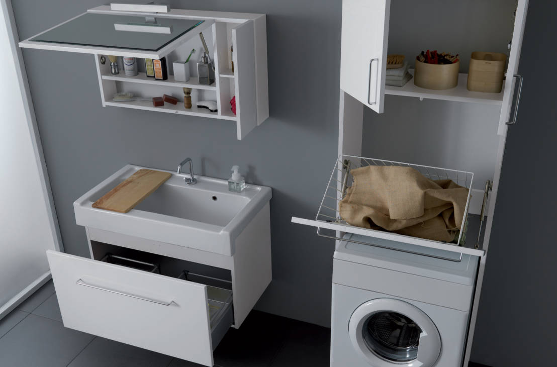 Lavadora En Un Baño Pequeno Es Posible:Ways to Hide Washing Machine