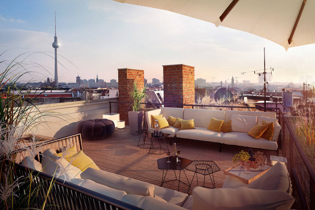 dachterrasse gestalten so geht s. Black Bedroom Furniture Sets. Home Design Ideas