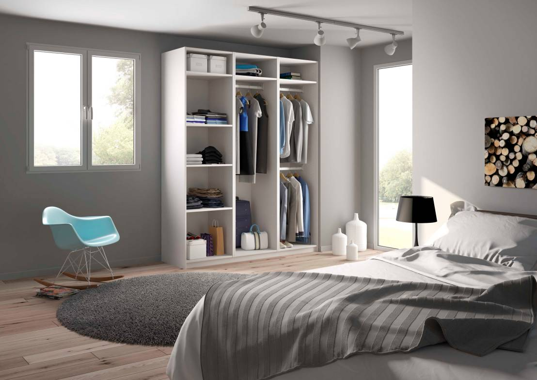 installer un dressing. interesting modle mridien portes de placard ... - Comment Installer Un Dressing Dans Une Chambre