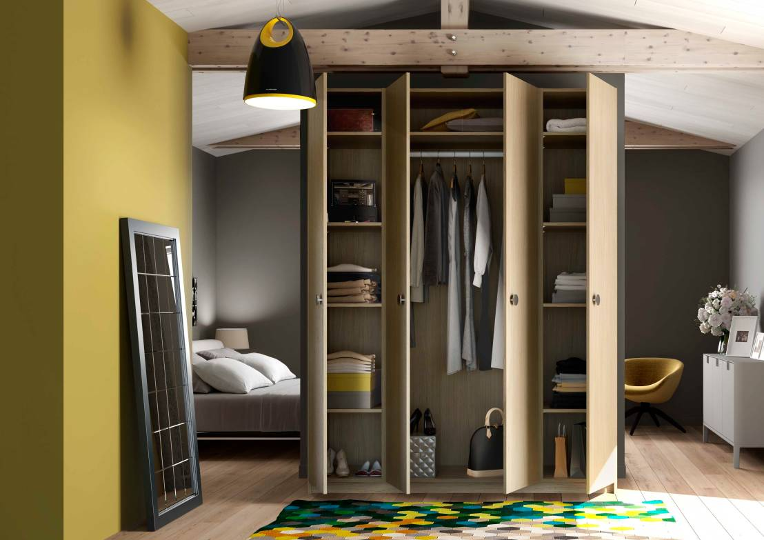 armarios y roperos 10 ideas para organizar tu ropa. Black Bedroom Furniture Sets. Home Design Ideas