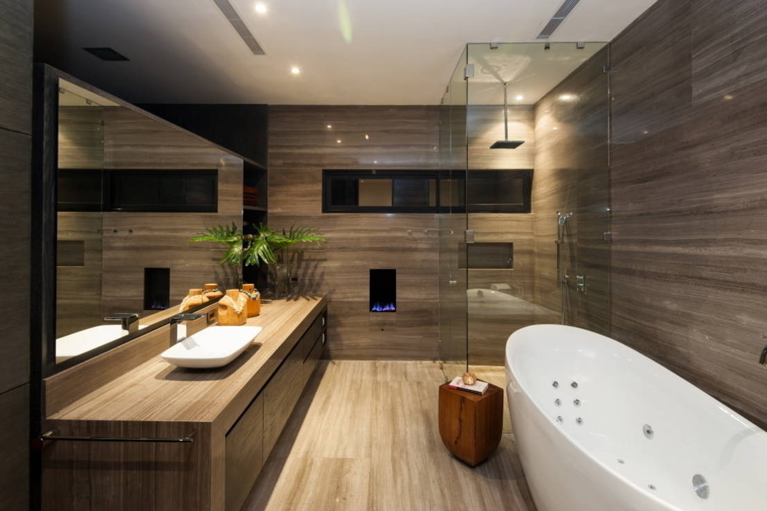 Baño De Tina Concepto:Floor and Wall Bathroom Design